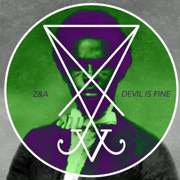 Cover of Devil is Fine, complete with the image of slave-rebellion leader Nat Turner and the sigil of Lucifer